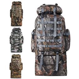 100L Camping Hiking Bag Army Military Tactical Trekking Ruck