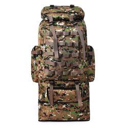100L Men's Hiking Camping Bag Tactical Backpack Outdoor Trav