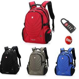 15.6' Laptop Swiss Gear Backpack Computer School Bag Men's