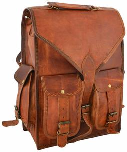 """15"""" Christmas Gift Free Ship Genuine Leather Backpack Messen"""