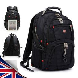 15'' USB Laptop Backpack Notebook Travel Rucksack Swiss Gear