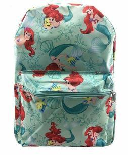 "16"" Disney Little Mermaid Ariel All over Print Backpack Back"