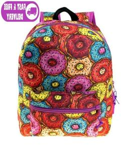 MODA WEST 17 INCH CLASSIC PADDED BACKPACK FROSTED DONUT