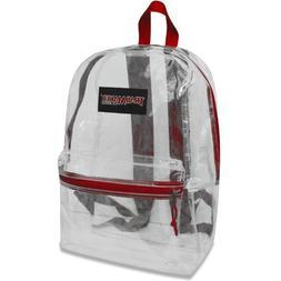 17 Trailmaker Backpack Bookbag, Clear with Black Trim