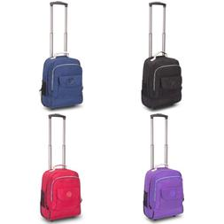 "17"" Wheeled Rolling Backpack Travel Luggage Suitsase Trolley"