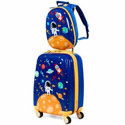 """18'' Carry On Suitcase Wheels & 12""""Travel Backpack Spaceman"""