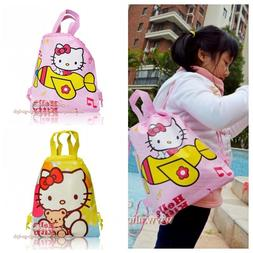 1pcs children cute cartoon drawstring backpacks school