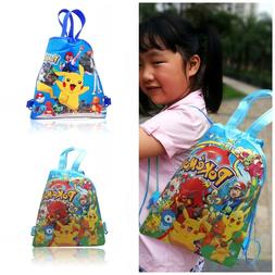1pcs pokemon children cartoon drawstring backpacks school