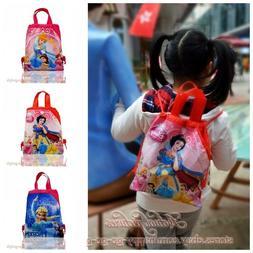 1PCS Princess Kids Cartoon Drawstring Backpacks School Shopp