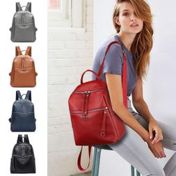 2018 New Women's Backpack Travel PU Leather Handbag Rucksack