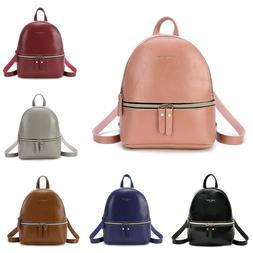 2019 Women Backpack Small Beach Bag Rucksack Travel Leather