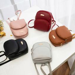 2019 Women Backpack Travel Leather Handbag Small Rucksack Sh