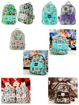 """2020 New Disney's Allover Printed 11"""" Faux Leather Mini Back"""