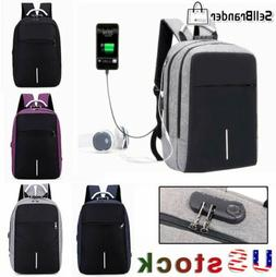 3-Digit Anti-Theft Lock Laptop Backpack Travel School Bag Wi