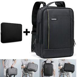 3 in 1 Laptop Backpack Briefcase USB Waterproof Mens Shoulde