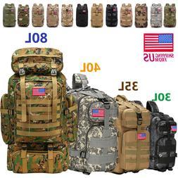 30L/40L/80LOutdoor Military Tactical Backpack Rucksack Campi