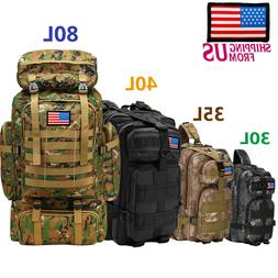 30L/40L/80L Outdoor Military Rucksack Tactical Backpacks Cam