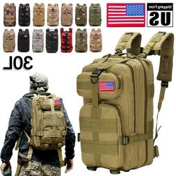 30L/40L Outdoor Military Rucksacks Tactical Molle Backpack C