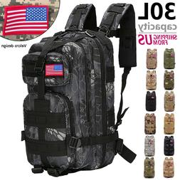 30l outdoor military tactical assault backpack waterproof