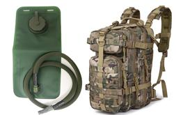30L Outdoor Tactical Backpack Military Bag with 2L Hydration