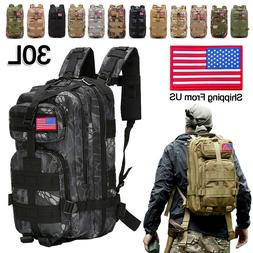 30L Outdoor Military Tactical Rucksacks Bag Camping Hiking T