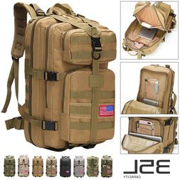 35L Sport Outdoor Military Rucksacks Tactical Molle Backpack