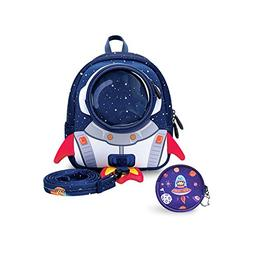 YISIBO Rocket Toddler Backpack with Harness Leash Snack Nurs
