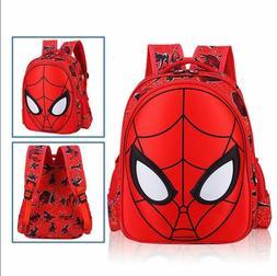 3D Spiderman School Bag Backpack Boys Kids Children Three Si