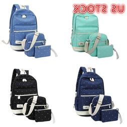 3pcs Fashion Girls Kids Women Student Shoulder Bag Travel Ba