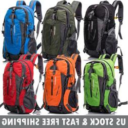 40L Travel Hiking Backpack Waterproof Outdoor Sport Camping