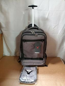 Hynes Eagle 42L Travel Rolling Backpack Flight Approved Carr