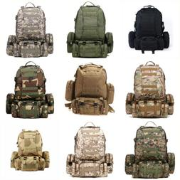 55L 3D Molle Military Tactical Backpack Rucksack Trekking Ba