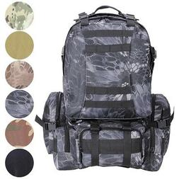55L Backpack Molle Sport Military Tactical Bag Camping Hikin