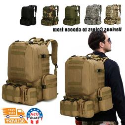 60L Outdoor Military Molle Tactical Backpack Rucksack Campin