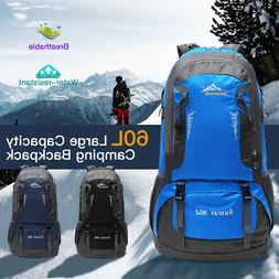 60L Backpack Hiking Backpacking Packs Outdoor Trekking Trave