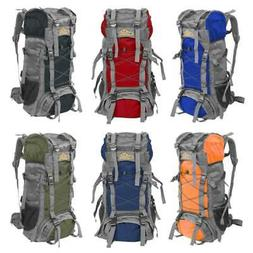 60L Large Waterproof Outdoor Camping Hiking Backpack Travel