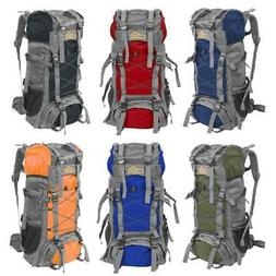 60L Outdoor Water Resistant Hiking Backpack Heavy Duty Lugga