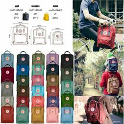 7L/16L/20L Classic Fjallraven Kanken Canvas Backpack Sport S