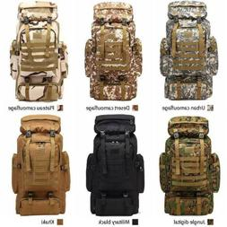 80L Molle Tactical Outdoor Military Rucksacks Backpack Campi