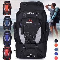 80L Outdoor Waterproof backpack Camping Large Capacity Bag H