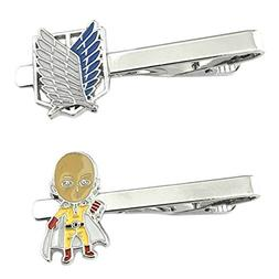 Anime Mangas - Attack on Titan & One Punch Man - Tiebar Tie