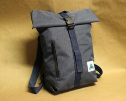 BuckleGear Backpack #1 - Zippered Roll Top Backpack - Fold T