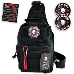 COMBAT PRO Alpha Series Premium Tactical Sling Bag Shoulder