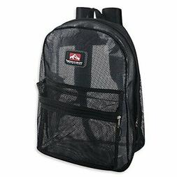 Classic Mesh Backpack with Reinforced Padded Straps & Zipper