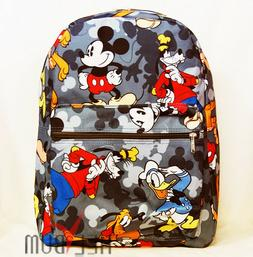 "Disney Mickey Mouse Backpack 16"" Large U.S.A. School Bag"