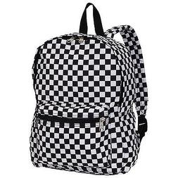 Everest Luggage Multi Pattern Backpack - Checkered