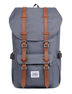 - Kaukko Fashion Grey Backpack Outdoor Travel Hiking Backpa
