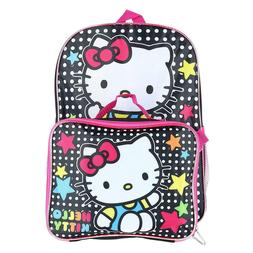 """Hello Kitty 16"""" Backpack With Detachable Matching Lunch Box"""