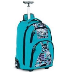 High Sierra Freewheel Tropical Teal Print Backpack w/ Wheels