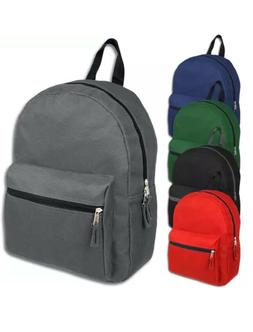 Lot of 24 Wholesale 15 Inch Basic Backpacks in 5 Assorted So